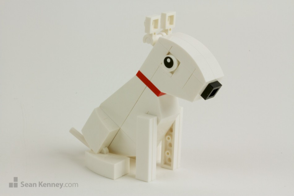 Targets-bullseye-miniature LEGO art by Sean Kenney