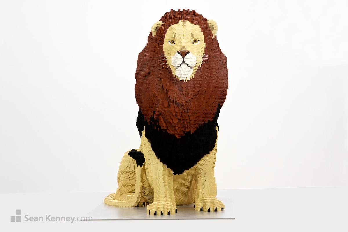 Sean Kenney Art With Lego Bricks Lion