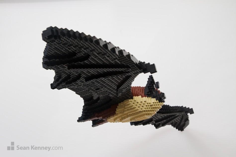 Bats LEGO art by Sean Kenney