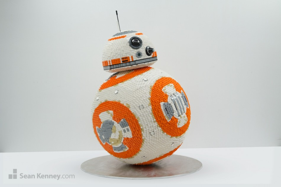 Bb-8 LEGO art by Sean Kenney