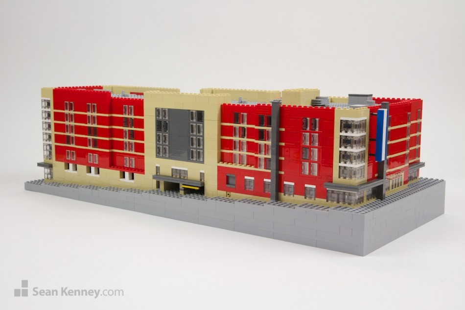 Bloomington-marriott LEGO art by Sean Kenney