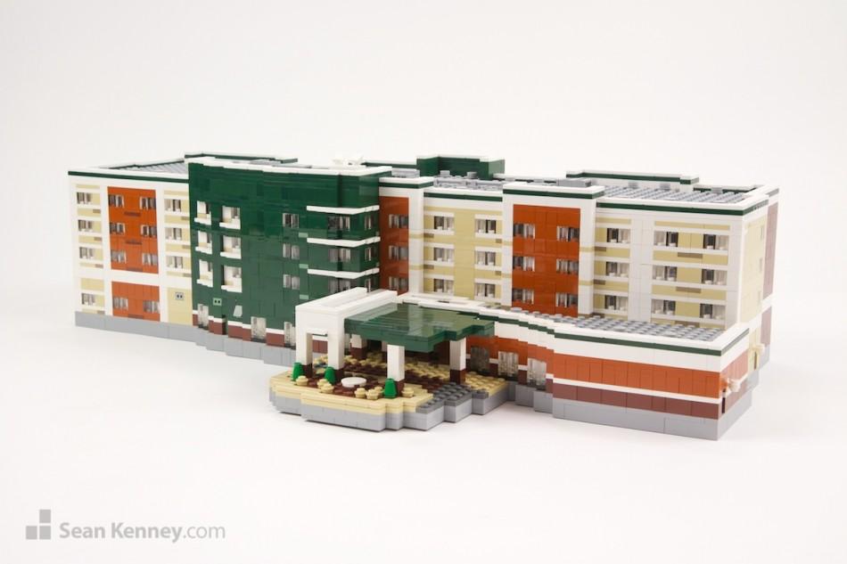Columbus-marriott LEGO art by Sean Kenney