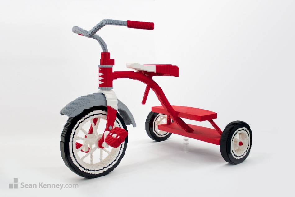 Tricycle LEGO art by Sean Kenney
