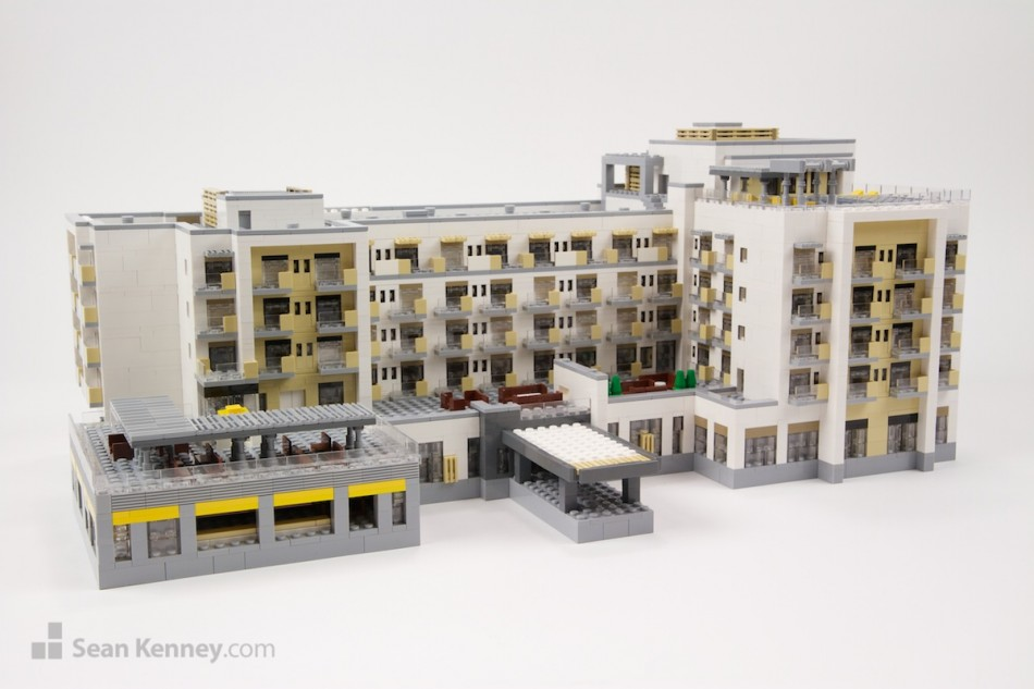 Oceanside-marriott LEGO art by Sean Kenney