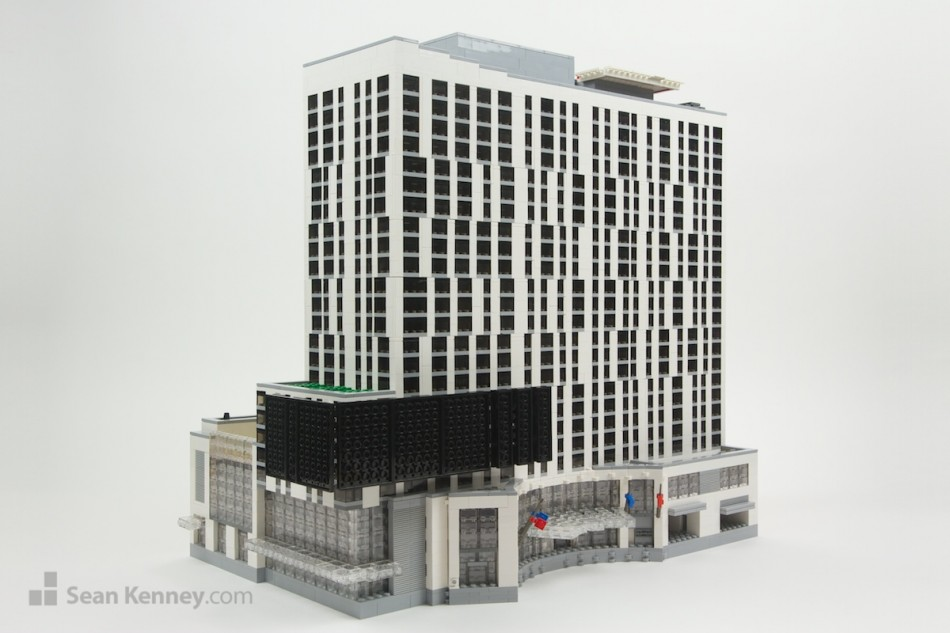 Los-angeles-marriott LEGO art by Sean Kenney