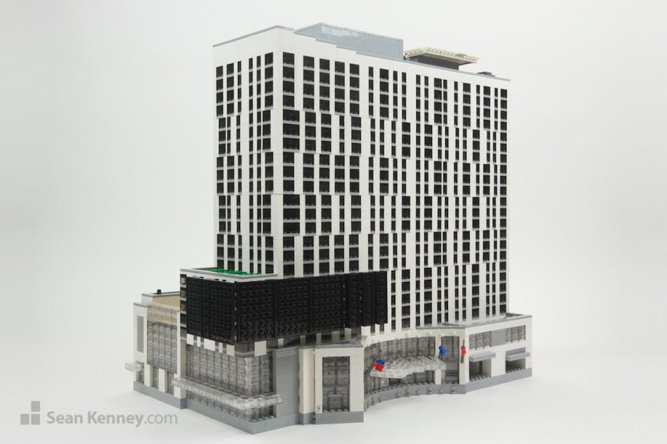 Los-angeles-marriott LEGO art by Sean Kenney