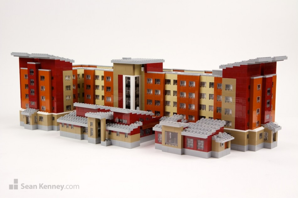 Texarkana-marriott LEGO art by Sean Kenney