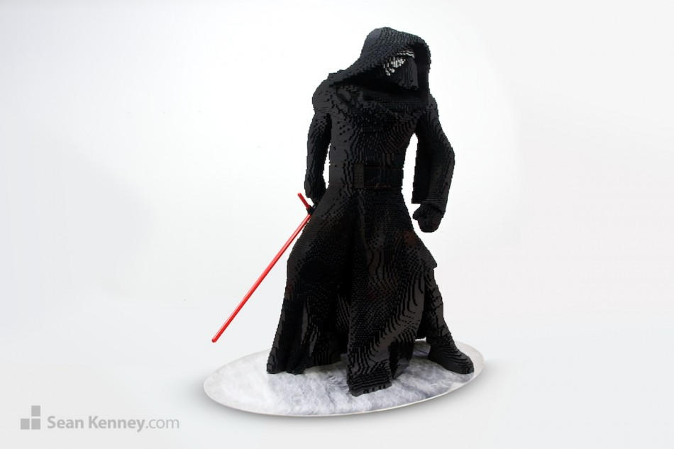 Kylo-ren LEGO art by Sean Kenney