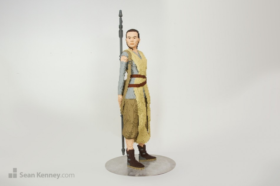 Rey LEGO art by Sean Kenney
