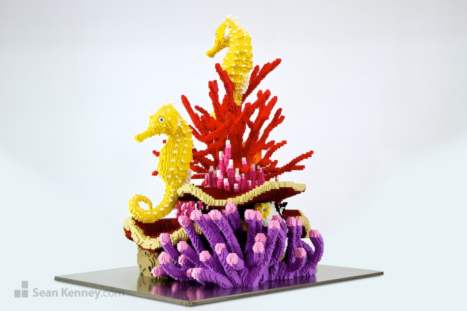 Coral-reef LEGO art by Sean Kenney