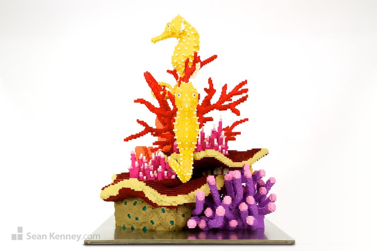 Sean Kenneys art with LEGO bricks Coral reef