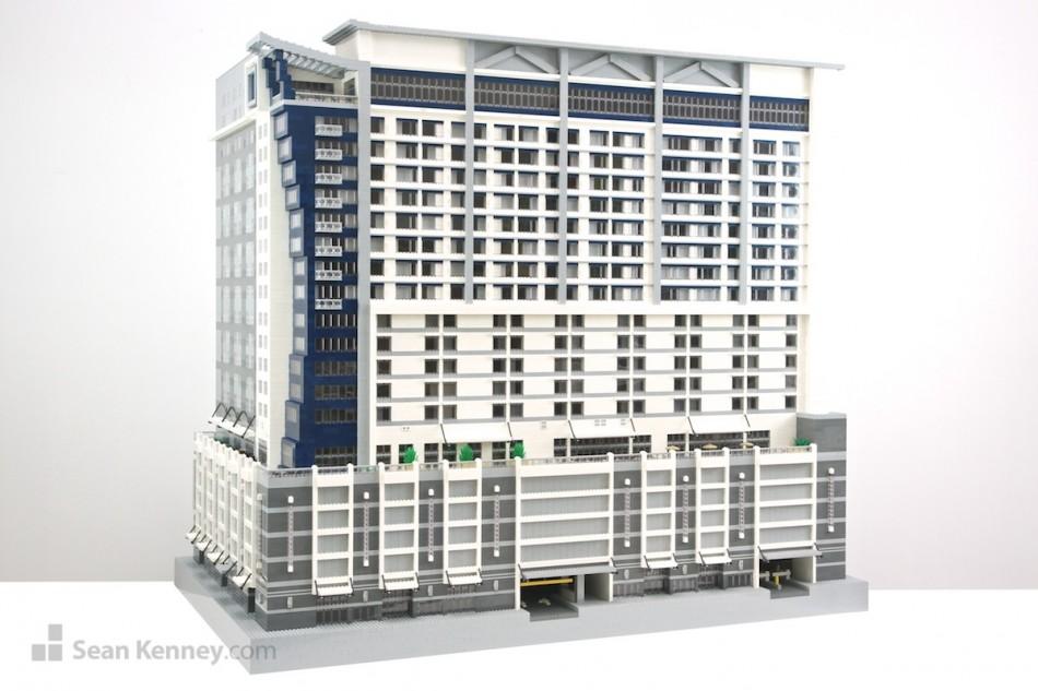 Nashville-marriott-gray LEGO art by Sean Kenney