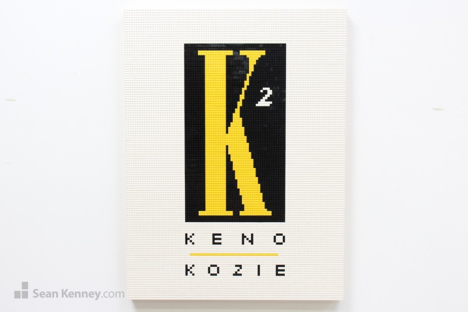 Keno-kozie-logos LEGO art by Sean Kenney