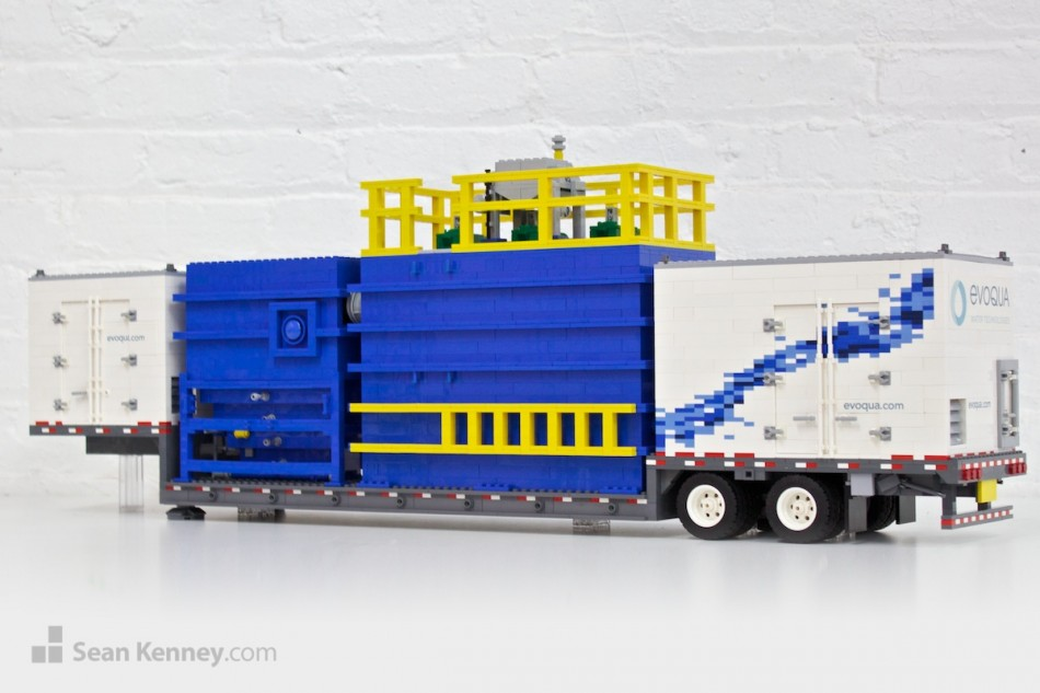 Evoqua-water-treatment-truck LEGO art by Sean Kenney