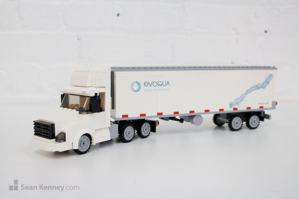 Small-truck-evoqua LEGO art by Sean Kenney