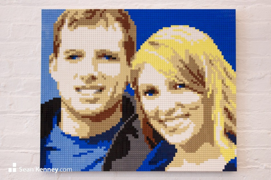 Young-couple LEGO art by Sean Kenney