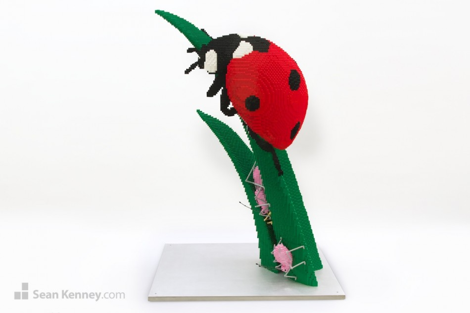 Ladybug-ladybird LEGO art by Sean Kenney