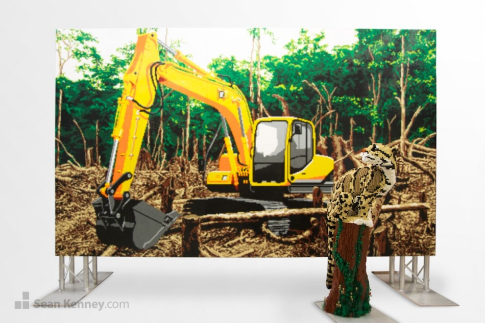 Deforestation LEGO art by Sean Kenney