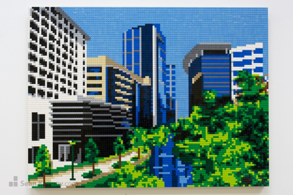 Texas-landscape LEGO art by Sean Kenney