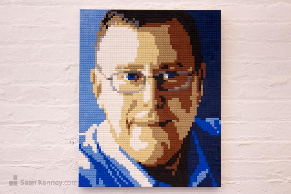 Mr-shadows LEGO art by Sean Kenney