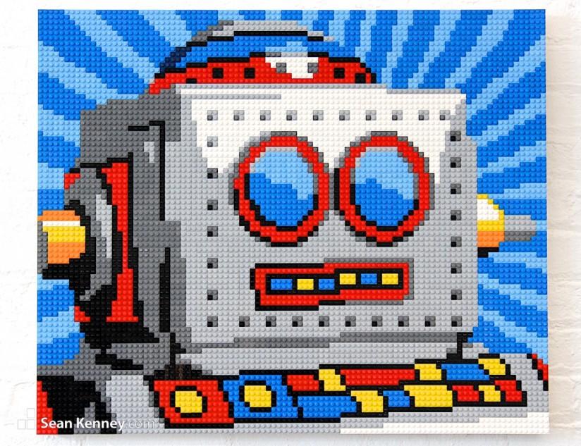 Eduardo-small LEGO art by Sean Kenney