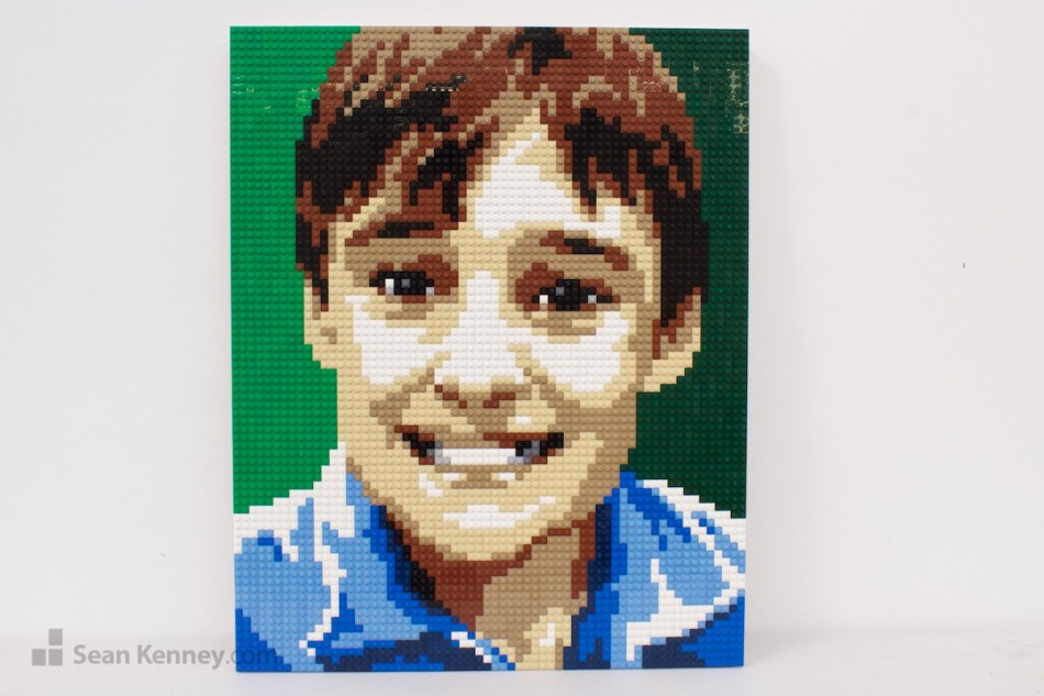 Older-brother LEGO art by Sean Kenney