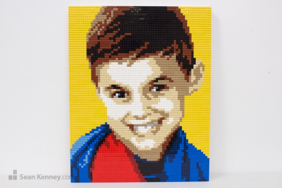 Younger-brother LEGO art by Sean Kenney