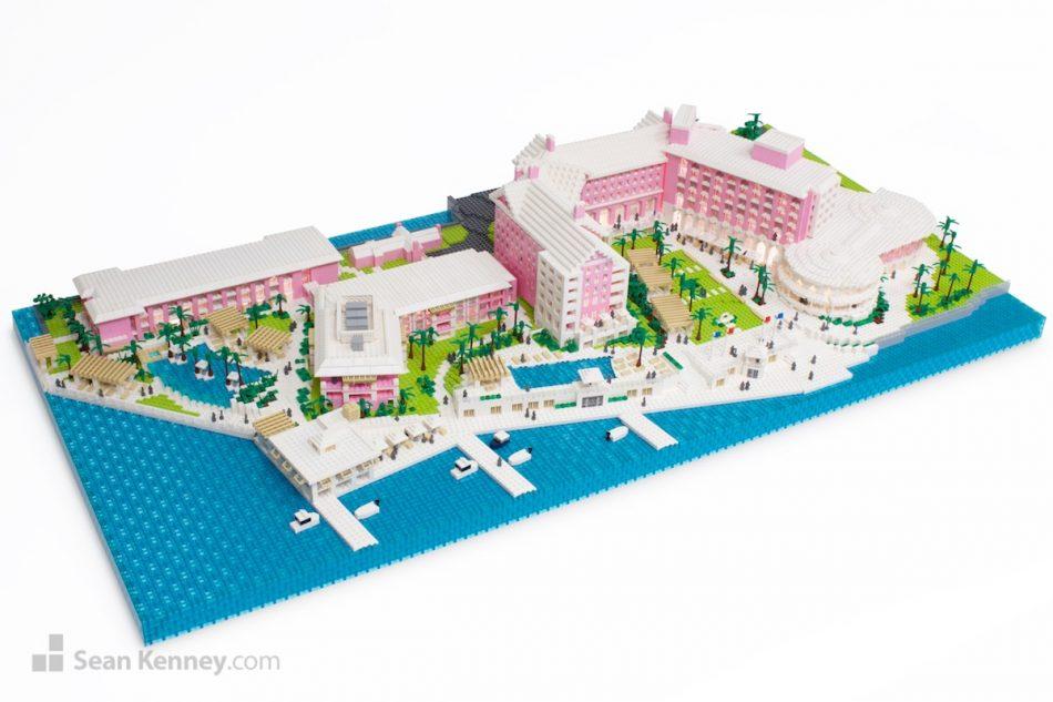 Hamilton-princess LEGO art by Sean Kenney