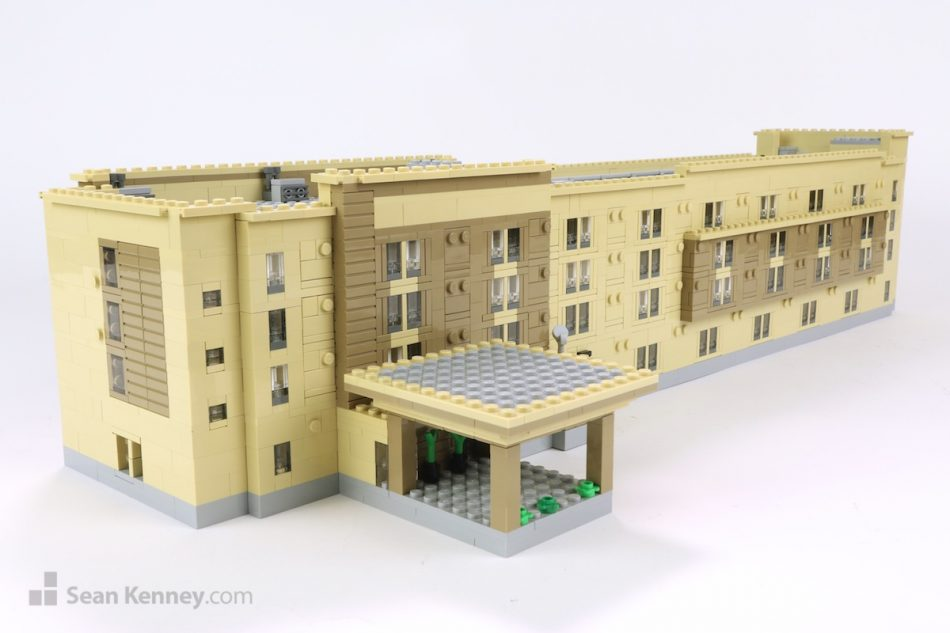 San-antonio-marriott LEGO art by Sean Kenney