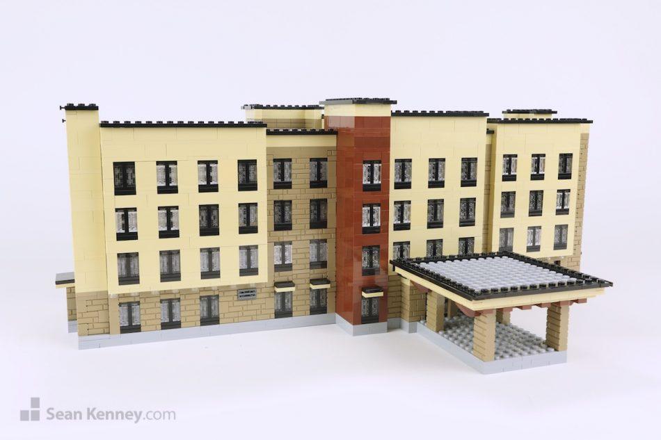 Cheyenne-marriott LEGO art by Sean Kenney