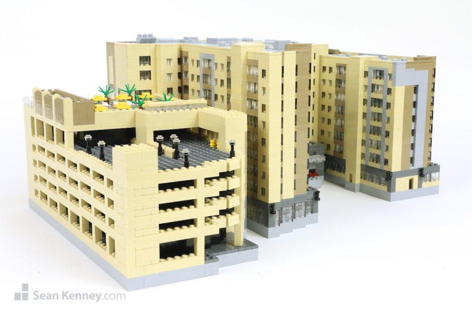 Anaheim-marriott LEGO art by Sean Kenney