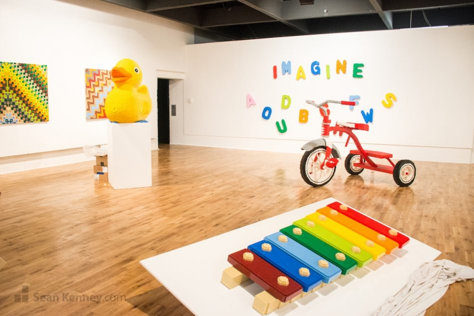 Piece-by-piece-at-the-pensacola-museum-of-art LEGO art by Sean Kenney