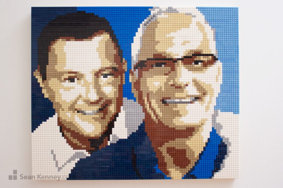 50th-birthday-lego-portrait LEGO art by Sean Kenney