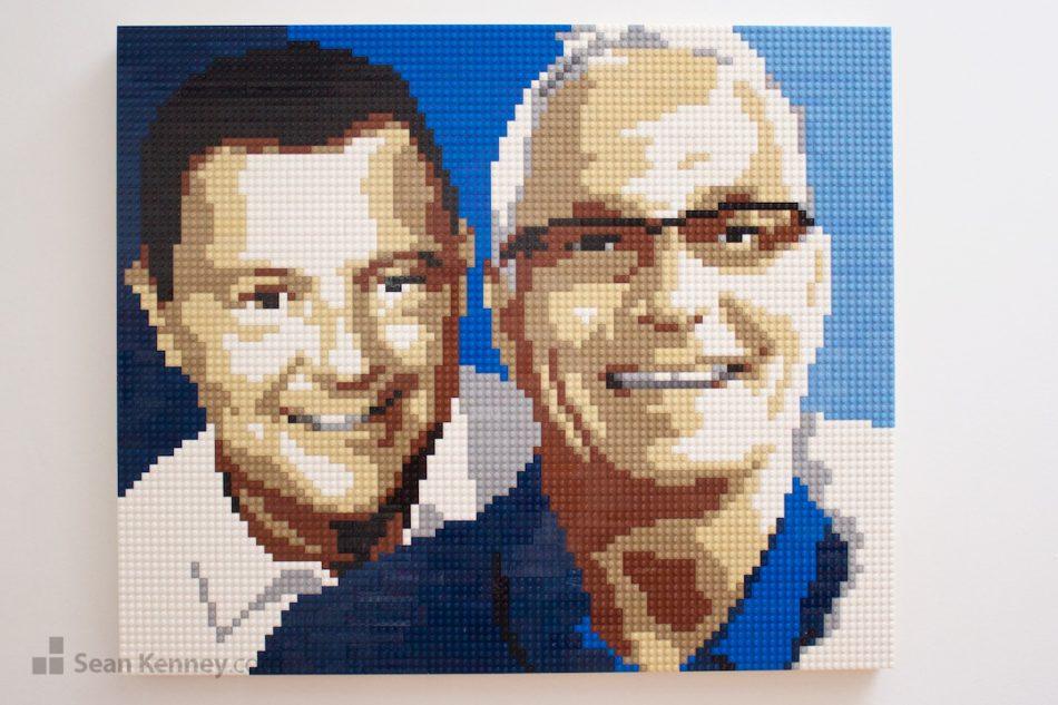 50th-birthday-lego-portrait LEGO art by Sean Kenney