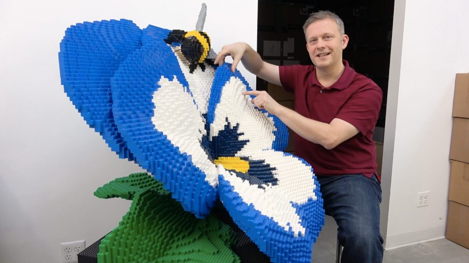Sean-on-making-delicate-looking-lego-sculptures LEGO art by Sean Kenney