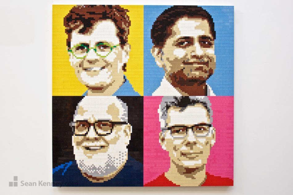 Corporate-founders LEGO art by Sean Kenney