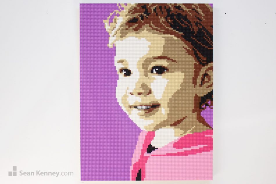 Baby-girl LEGO art by Sean Kenney