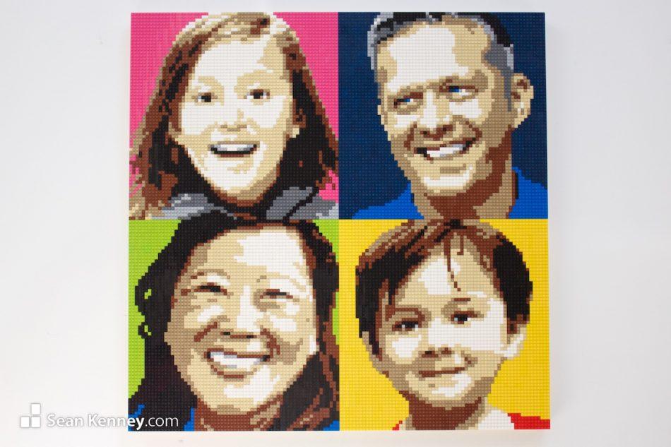 Family-portrait-2 LEGO art by Sean Kenney