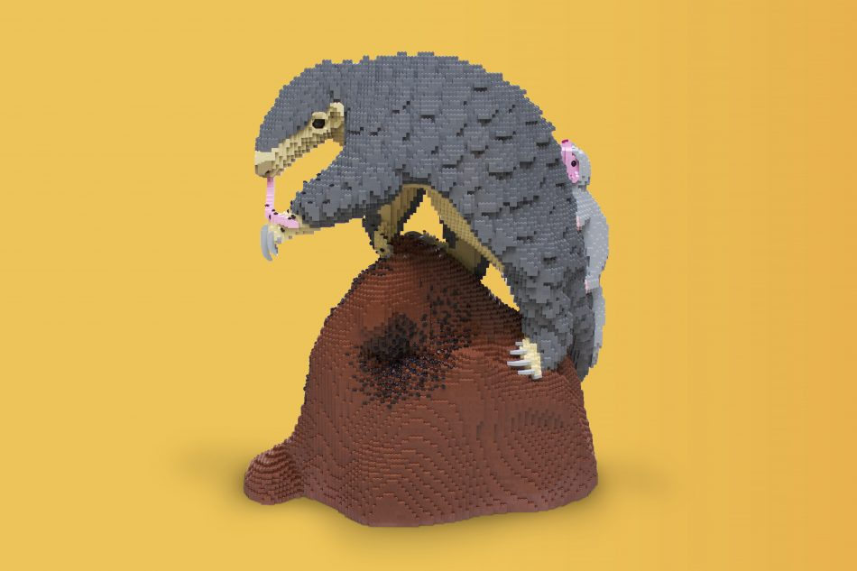 Chinese-pangolin LEGO art by Sean Kenney
