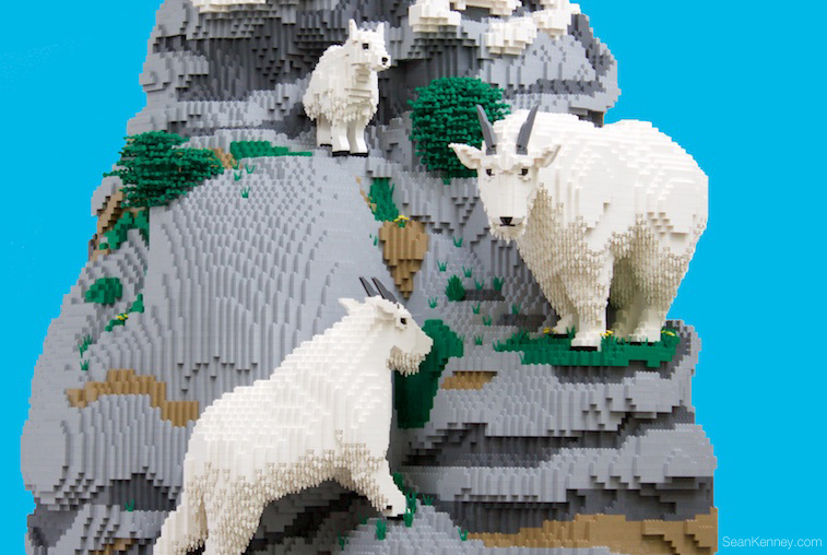 Mountain-goats LEGO art by Sean Kenney