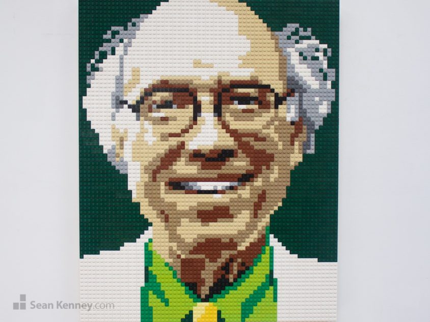 The-science-guy LEGO art by Sean Kenney