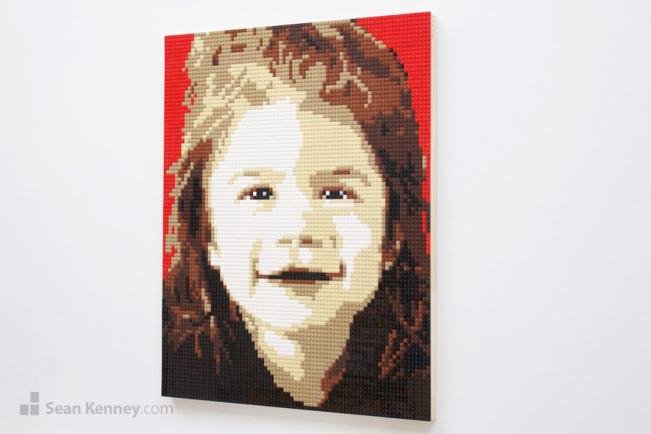 Sean offers LEGO® fans of all ages the opportunity to purchase their very own, one of a kind, personalized LEGO Mosaic portrait!