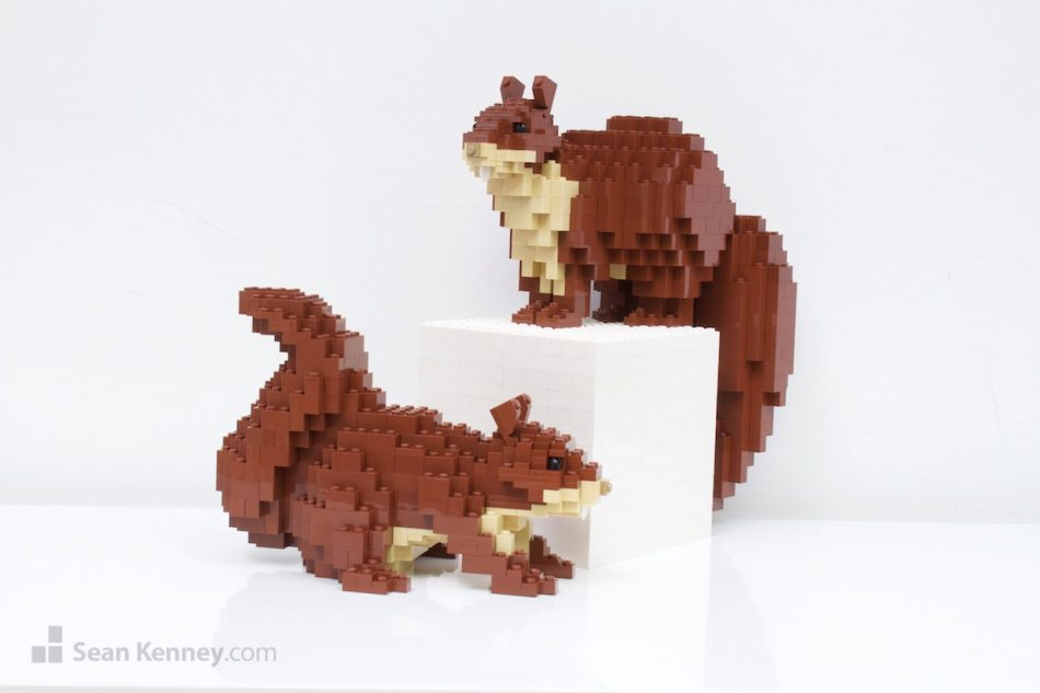 Squirrels LEGO art by Sean Kenney