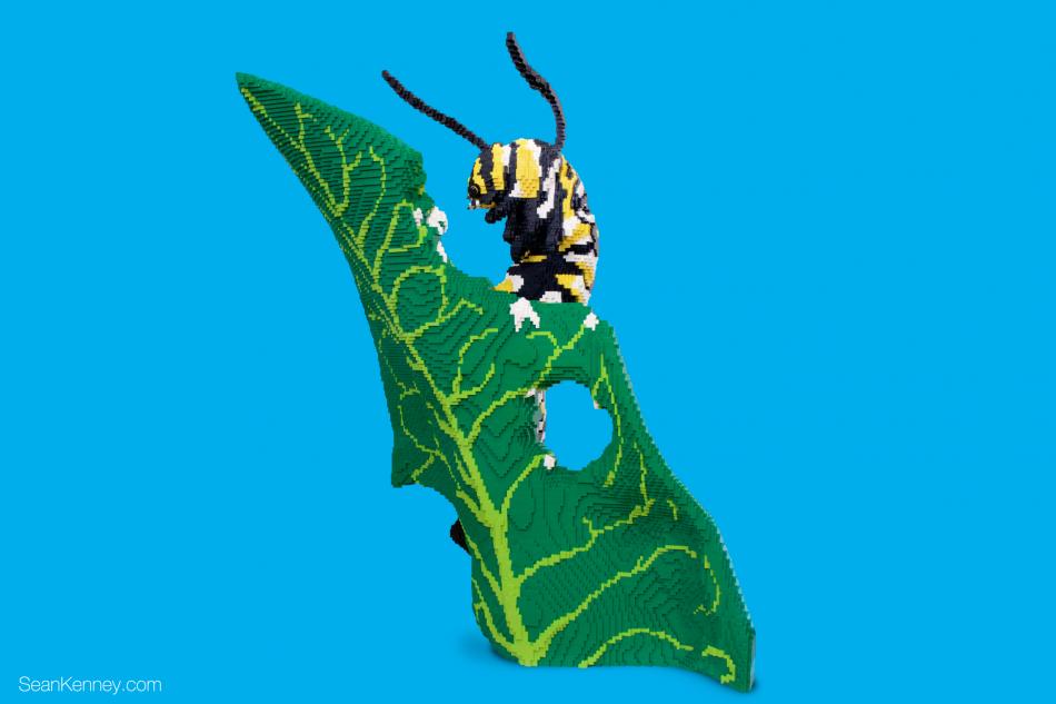 Caterpillar LEGO art by Sean Kenney