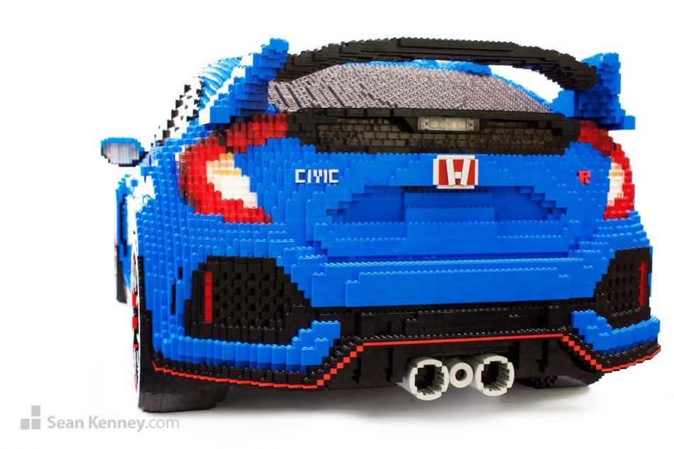 Honda-civic LEGO art by Sean Kenney
