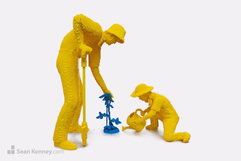 Pop-gardeners LEGO art by Sean Kenney