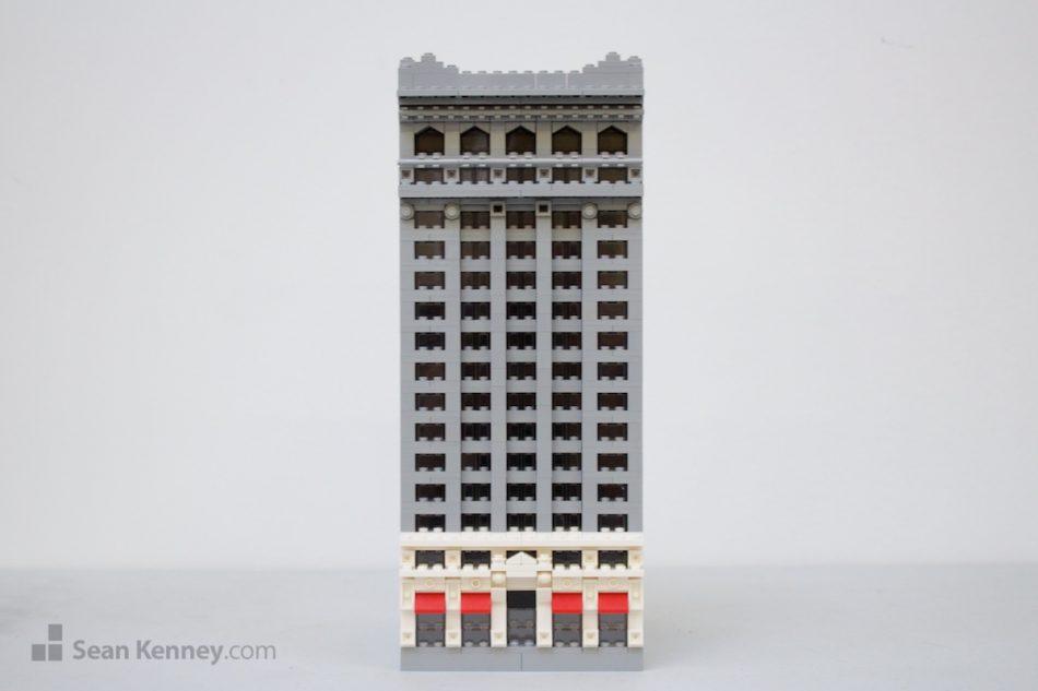 Old-grey-office-building LEGO art by Sean Kenney