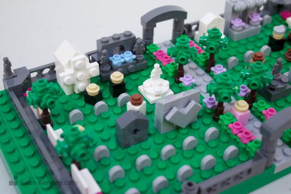 Cemetery LEGO art by Sean Kenney