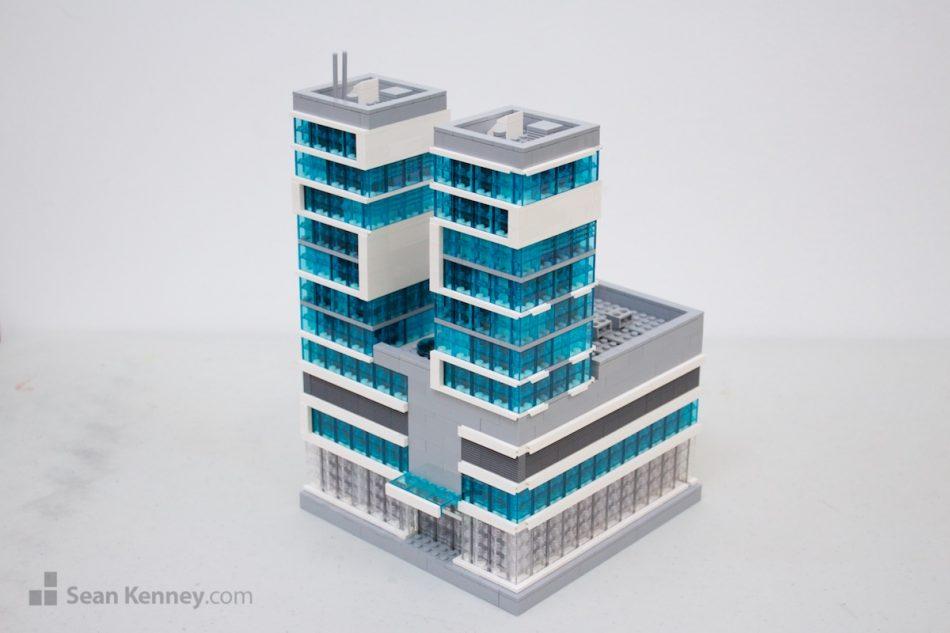 Ultramodern-city-shopping-mall LEGO art by Sean Kenney