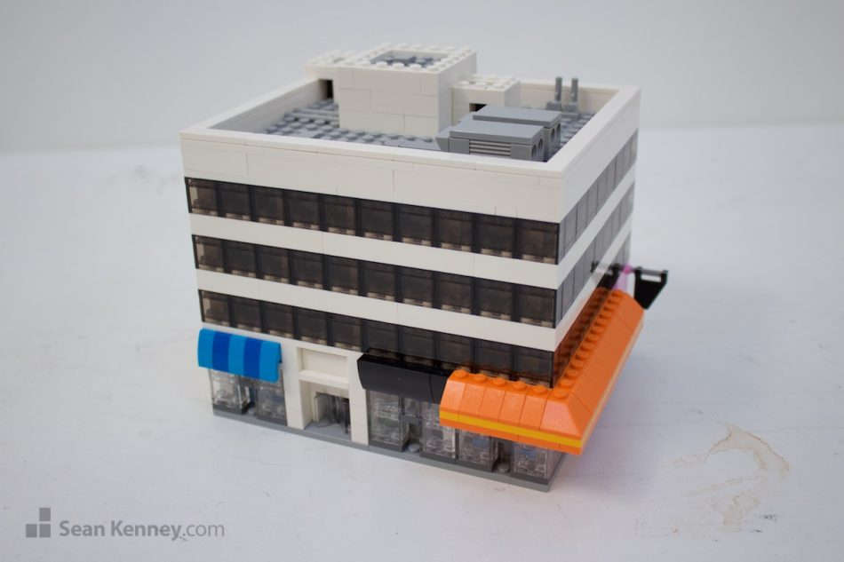 Little-downtown-office-building LEGO art by Sean Kenney